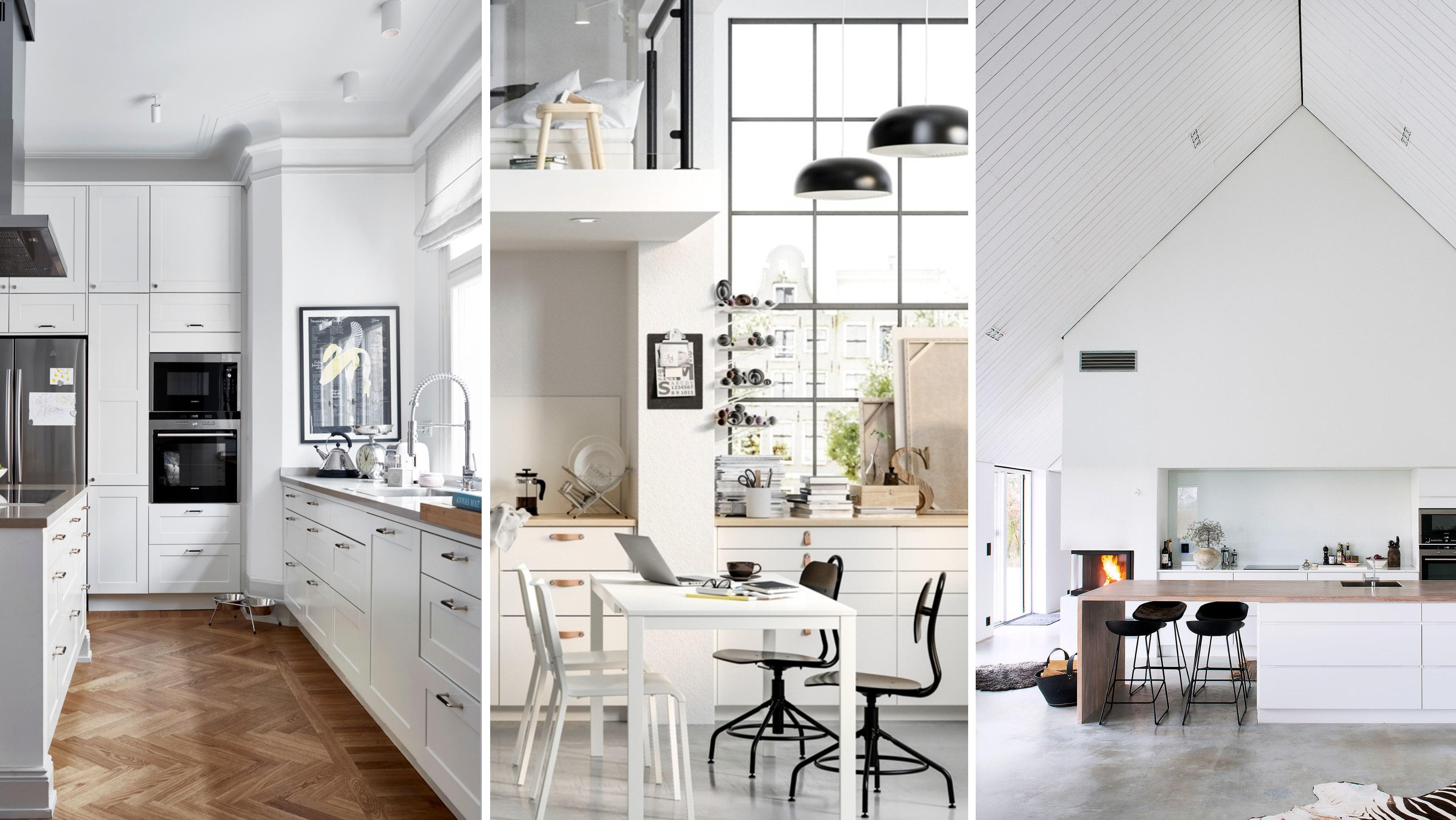 17 ursnygga vita kök att inspireras av! | Sköna hem