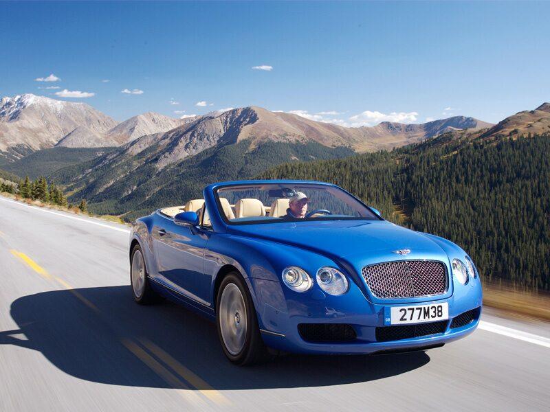 Provkörning av Bentley Continental GTC