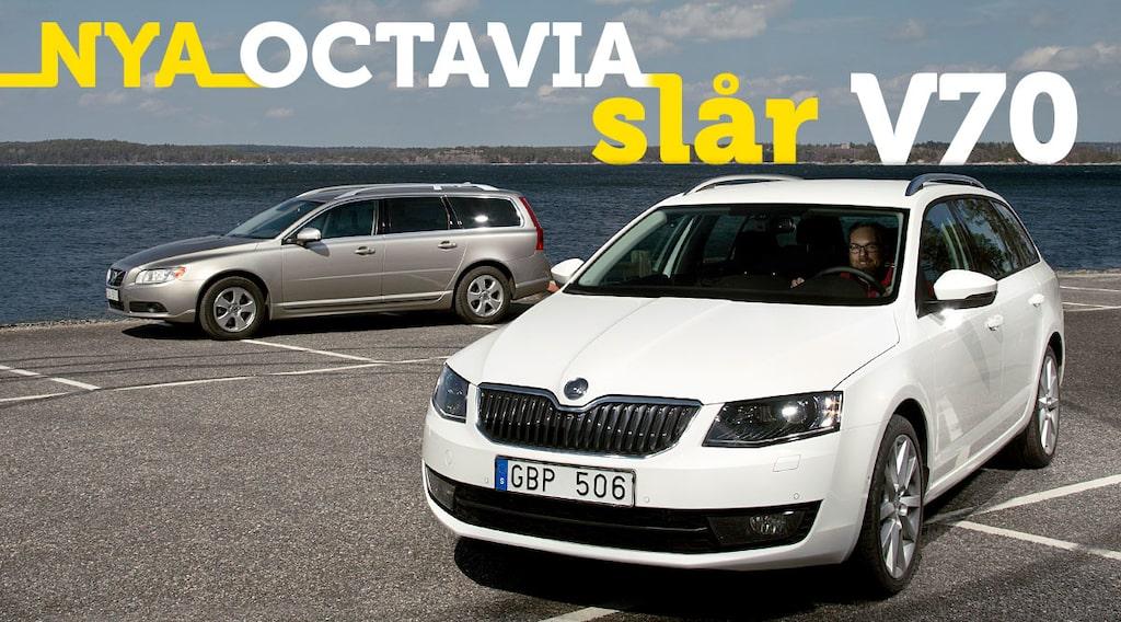 Skoda Octavia Combi TSI 180 vs Volvo V70 T4