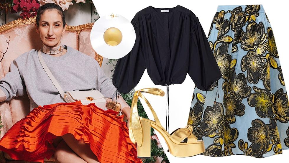 Marina Kereklidou visar hur du stylar midikjolen stilsäkert i sommar.