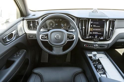 Volvo-interiören känns igen, laddhybrid eller ej. Komforten och detaljkänslan är på topp.