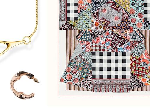 Halsband från Thomas Sabo, örhängen från Marqet, scarf från Hermès.