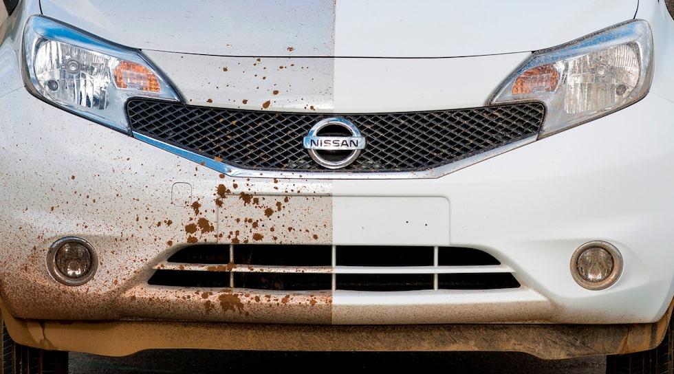 Nissan Note med Ultra-Ever Dry smutsavvisande lack