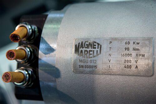 MGU-enhet till exempelvis Formel 1-bils KERS-system.