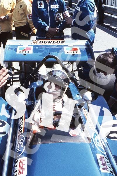 Bild 7. Jackie Stewart och March 701 på främsta startruta i Monaco 1970. Mått 50 x 70 cm. Pris: 300 kr.