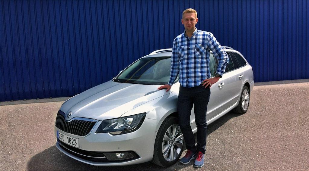 Skoda Superb Combi facelift och Erik Wedberg