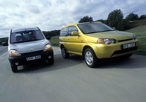 Provkörning av Honda HR-V 1,6i mot Renault Kangoo 1,4 Pampa