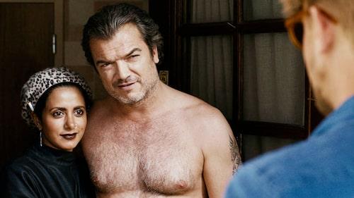 """I tv-serien """"Mammor"""" skämtade Anitha och Calle Schulman om en eventuell skilsmässa. Här med Dragomir Mrsic. Foto: MTG"""