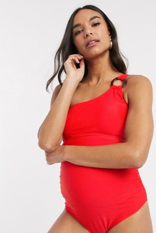 Röd baddräkt för dig som är gravid!