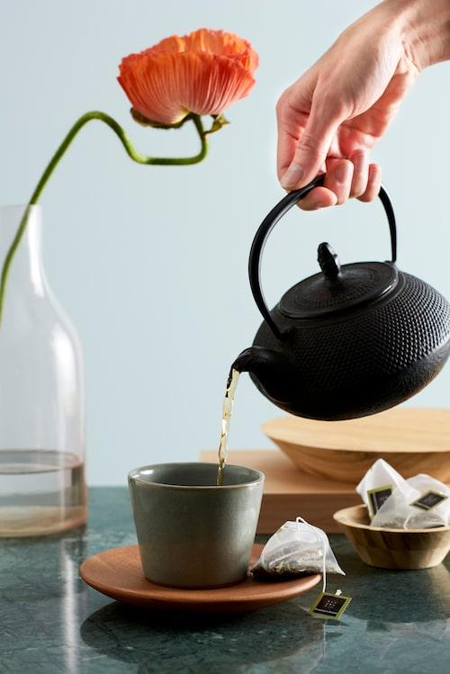Te från Rituals är en härlig avkoppling. Grönt Hammam-te med mynta är en favorit. Eller varför inte rosdoftande Rosewisdome med inslag av ingefära?
