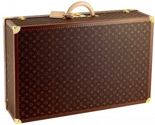 Resväska av bomullskanvas skinn, modell Alzer 75, 67 000 kr, Louis Vuitton.