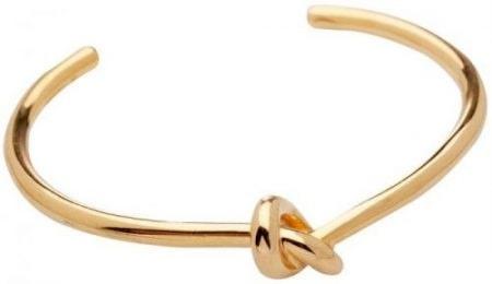 Armband, av guldpläterad mässing, The Knot bracelet, 2400 kr, Céline.