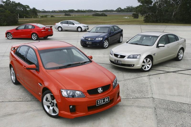 Holden Commodore finns i en uppsjö olika versioner.