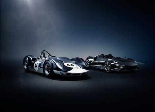 Namnet Elva är hämtat från McLarens tävlingsbil som debuterade 1964.