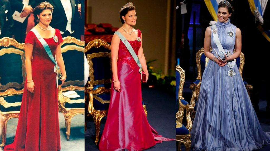 Se Victorias nobelklänningar genom åren.