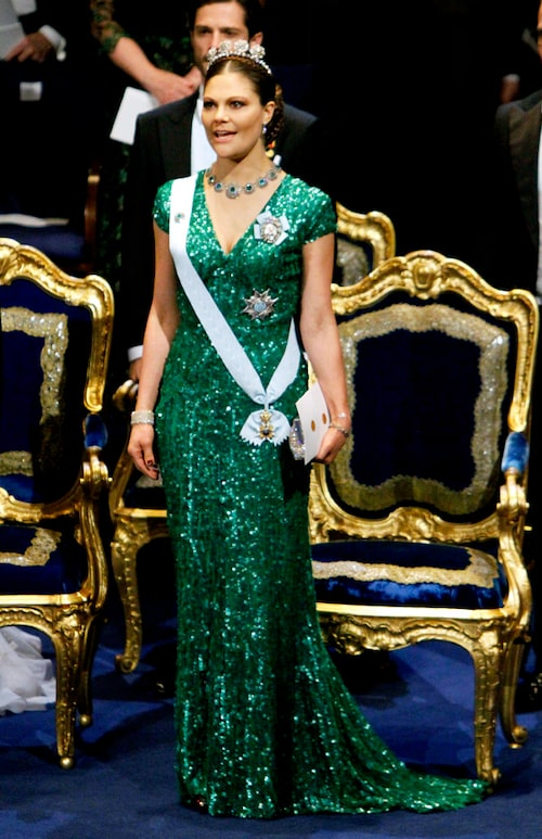 Kronprinsessan Victorias nobelklänning 2012.