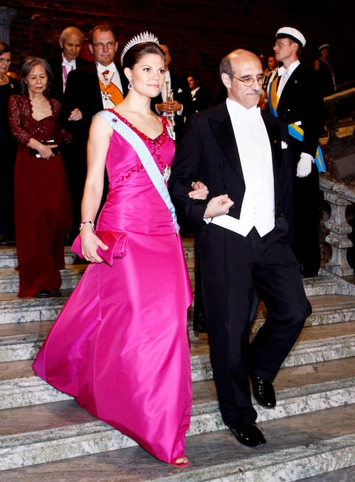 Kronprinsessan Victorias nobelklänning 2008.