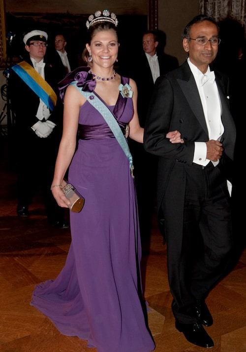 Kronprinsessan Victorias nobelklänning 2009.
