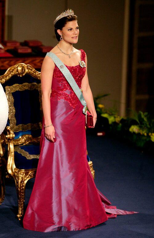 Kronprinsessan Victorias nobelklänning 2006.
