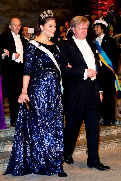Kronprinsessan Victorias nobelklänning 2011.