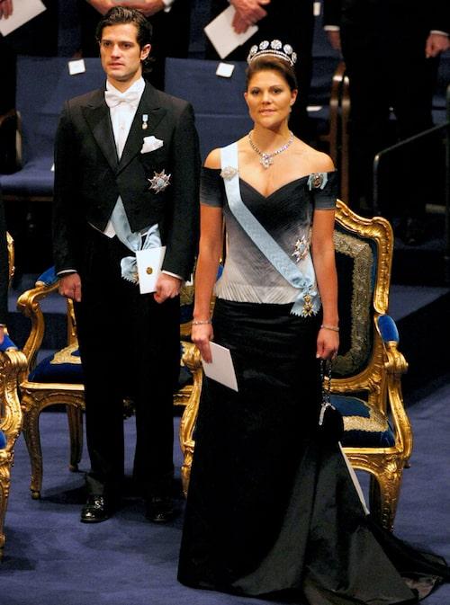 Kronprinsessan Victorias nobelklänning 2007.