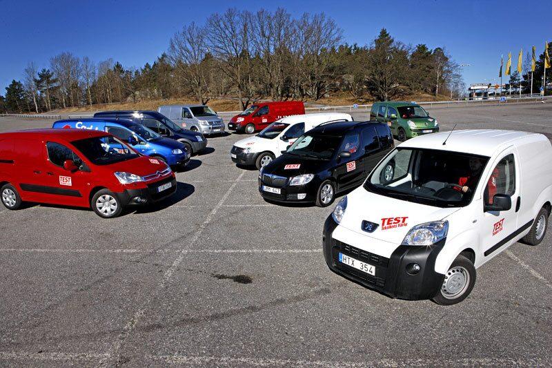Nio transport- och hantverksbilar i test.