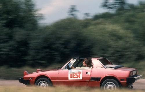 Bilen Fiat X1/9, utan aeropaket, testas i Teknikens Värld nummer 19/1980.