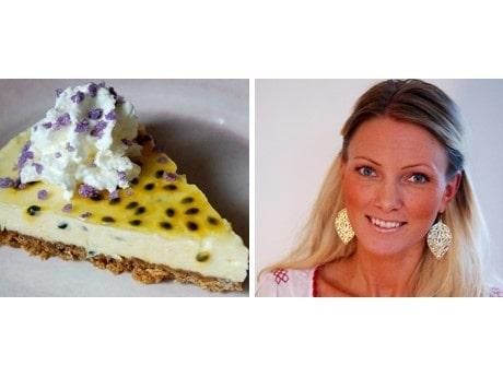 <p>Victoria Lindbergs cheesecake med passionsfrukt, vit choklad och en aning citron.</p>