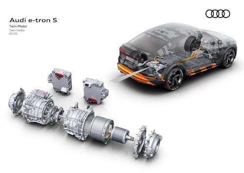 Två elmotorer som driver bakaxeln är unikt för S-modellerna.