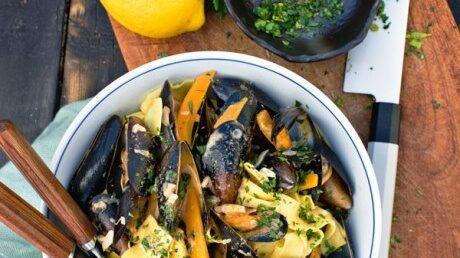 Mouclade curry rouge, recept på en enkel musselgryta.