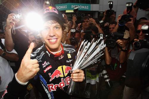 Red Bull visad prov på sin styrka i Malaysia. Sebastian Vettel etta och Mark Webber tvåa. (Foto: Mark Thompson/Getty Images)