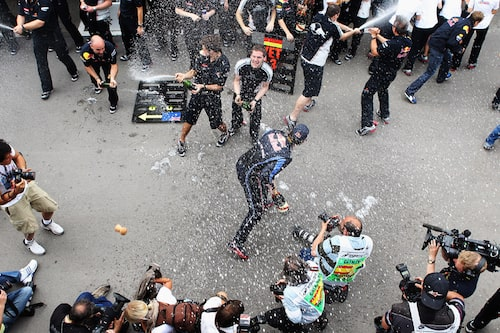 Mark Webber körde hem Spaniens Grand Prix med 24 sekunders mariginal. (Foto: Mark Thompson/Getty Images)