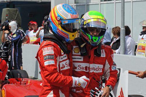 Säsongens svarta kapitel var den tydliga stallordern på Hockenheim. Vann gjorde Fernando Alonso, men knappast hederligt. (Foto: Ferrari)