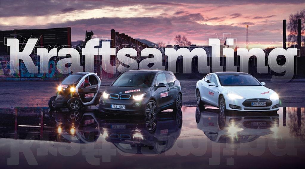 Renault Twizy, BMW i3 och Tesla Model S