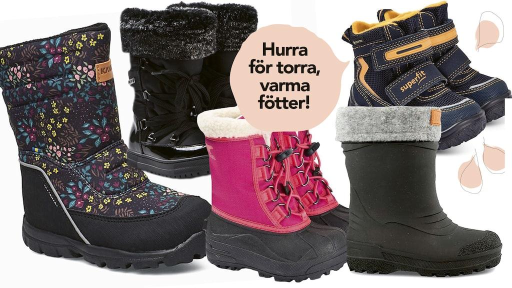 Barns fötter växer så det knakar. Här finns tips på bra skor för vintersäsongen.