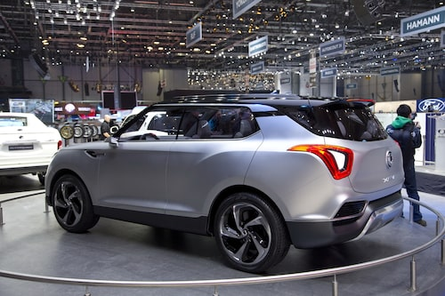 SsangYong XLV Concept, en sjusitsig crossover.