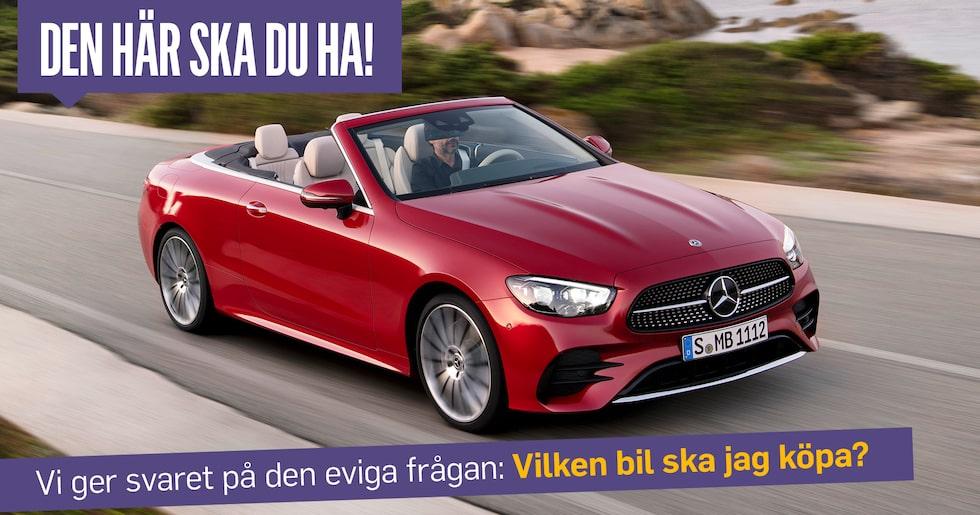 En öppen fyrsitsig cabriolet är den perfekta familjebilen om man frågar Hans Hedberg.