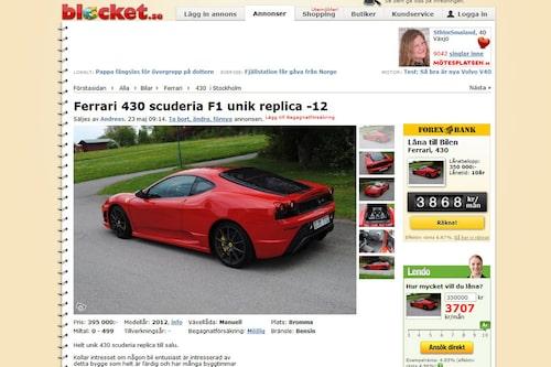 Ferrari 430 Scuderia replica