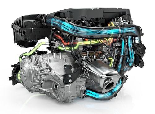 Vid ventilöppning släpps den komprimerade luften ut i systemet, något turbon drar nytta av.