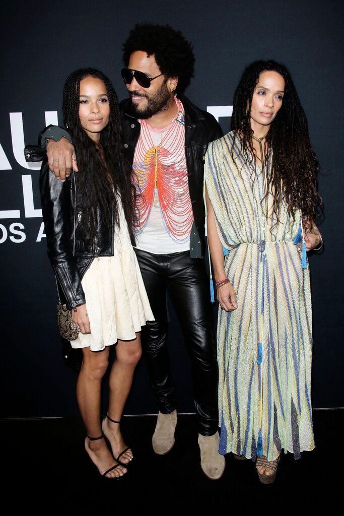 Zoë med pappa Lenny Kravitz och mamma Lisa Bonet.