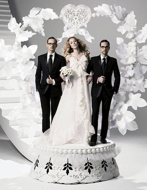 Viktor och Rolfs designsamarbete med H&M resulterade i kedjans första brudklänning.