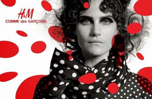 H&M x Commes des Garçons designsamarbete släpptes 2008.