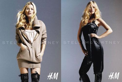 Kate Moss i Stella McCartneys kampanj för H&M.