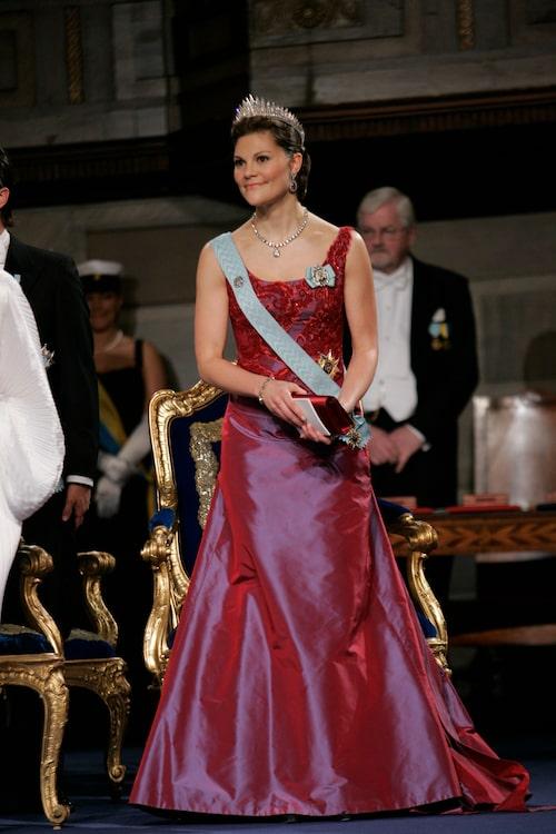 Kronprinsessan Victoria på Nobelfesten 2006.