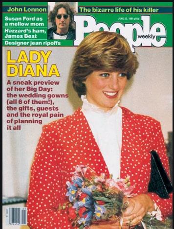 Diana Spencer var ett stort fan av den vita ståkragen.