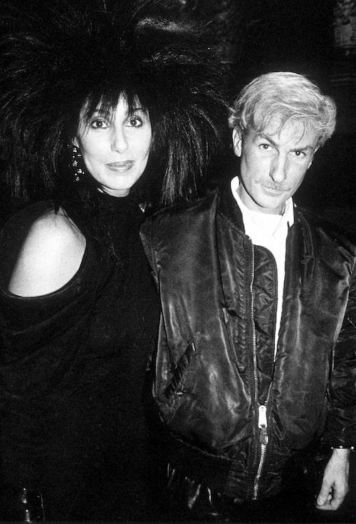Cher med Claude Montana 1985.