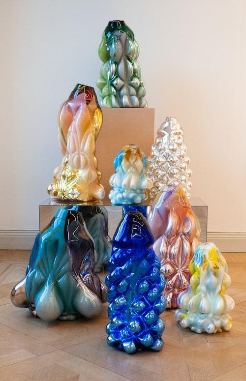 Några av Hanna Hansdotters verk, som ställs ut på CFHILL.