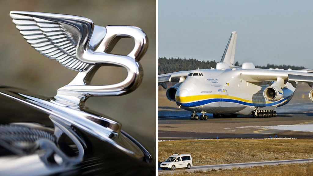 Antonov AN-225 är världens största transportflygplan, här på Arlanda 2012.