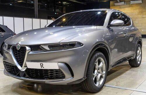 Alfa Romeo Tonale i produktionsutförande enligt den bild som läckte hösten 2019.