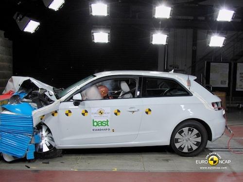 Euro NCAP krocktest Audi A3: front